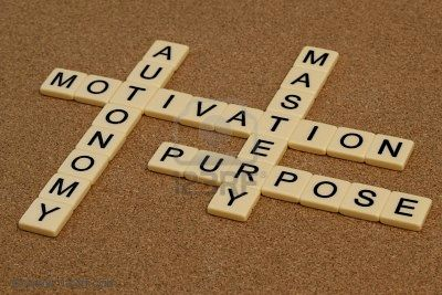 6514234-three-elements-of-true-motivation--mastery-autonomy-purpose--crossword-with-ivory-letter-blocks-on-c